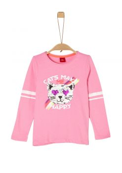 Kids Girls ~ Langarmshirt mit Wendepailletten